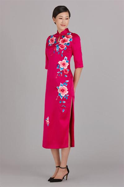 姹紫嫣红长旗袍