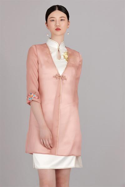 花开富贵粉纱衣三色