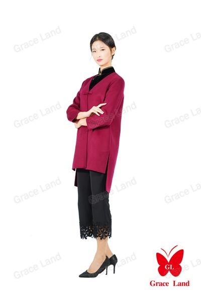 法国GL烘炉观梅羊绒大衣