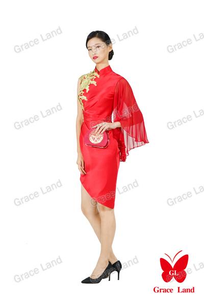 法国GL花开连理小礼服
